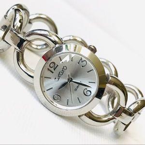XOXO Silver Bracelet Watch Women's